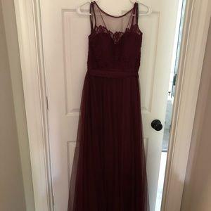 Bill Levkoff burgundy gown— maternity